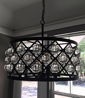 Professionally installed chandelier